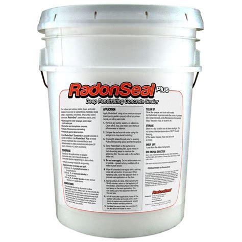 radonseal 5 gal plus penetrating concrete sealer shop