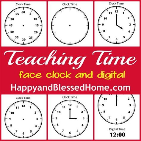 printable clock with movable hands tell time preschool learning free printables clock and