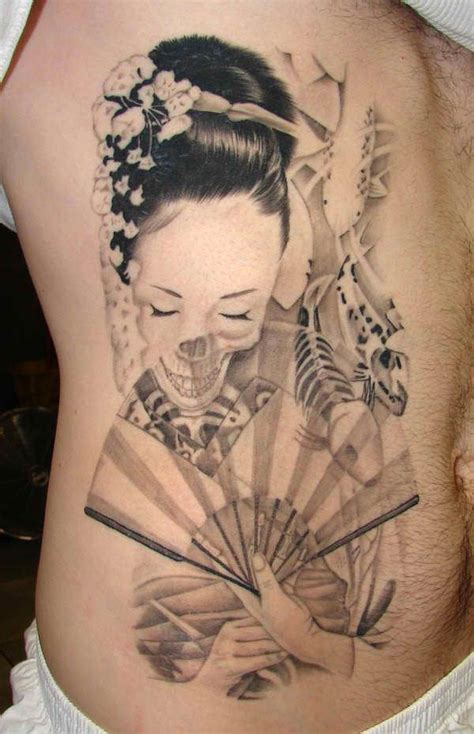 japanese lady tattoo designs ideas for japanese skeleton models