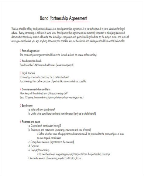 50 50 Partnership Agreement Template 49 Exles Of Partnership Agreements Emsec Info 50 50 Partnership Agreement Template