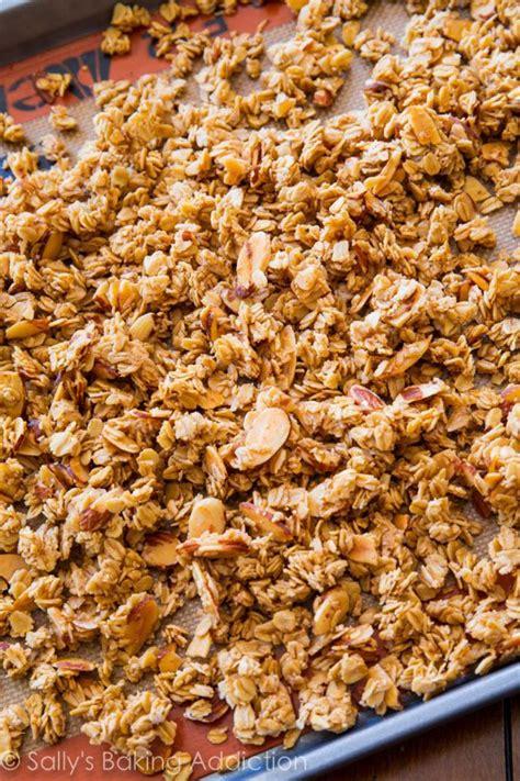 Almonerd Granola vanilla almond granola sallys baking addiction