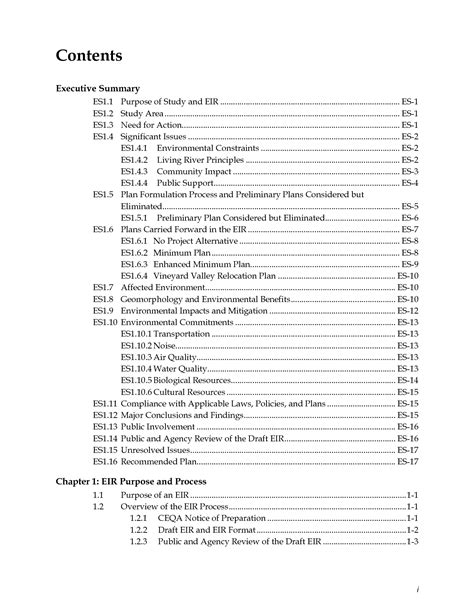 best photos of professional table of contents exle