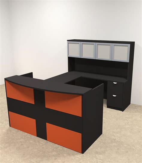 U Shaped Reception Desk 5pc U Shaped Modern Acrylic Panel Office Reception Desk Ot Sul Ro32 H2o Furniture