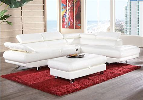 Rooms To Go Sectionals by Shop For A Salerno White Blended Leather 5 Pc Sectional