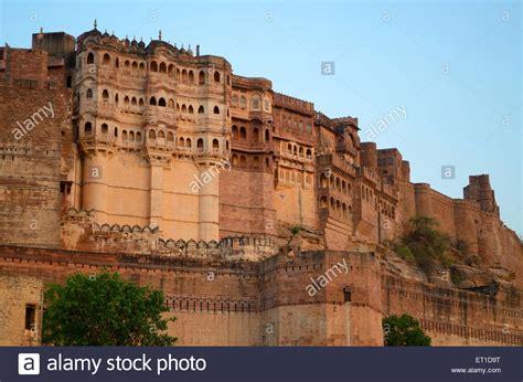 mehrangarh fort jodhpur kila jodhpur rajasthan india stock