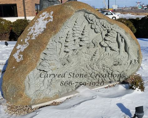 Relief Carved Boulder Forest Triple Waterfall Fountain   CSC