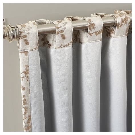 what are back tab curtains kamila woven floral blackout lined rod pocket back tab