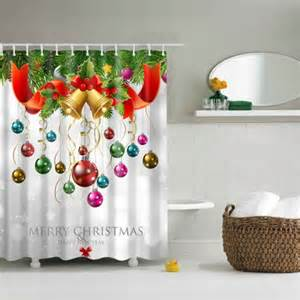 Colorful Home Decor Accessories by Colorful Bath Decor Waterproof Polyester Merry Christmas
