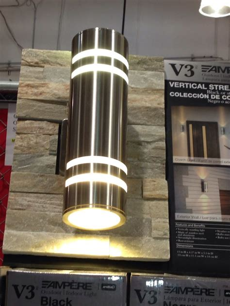 costco indoor outdoor lights costco vertical artika lighting collection