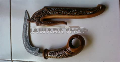 Pisau Tongkat Ukir Wayang Jbld2226 kerambit minang classic pamor kode js 039 jawara sae etnic