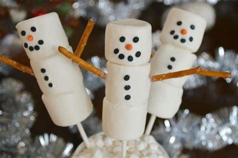 marshmallow crafts for xmas winter birthday ideas