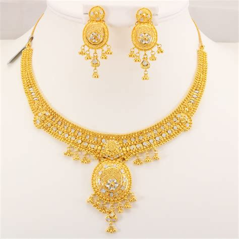 Gold Necklace 22 carat indian gold necklace set 46 6 grams gold forever