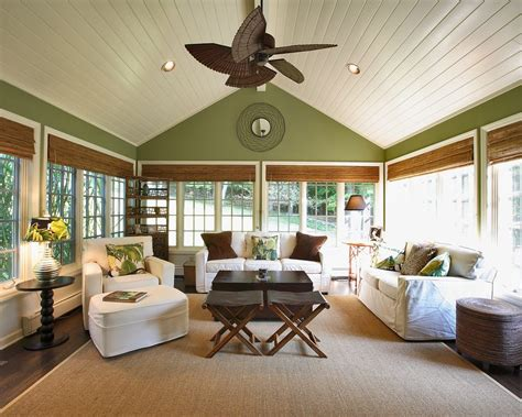 ceiling blinds for sunrooms how to decorate cathedral ceiling walls sunroom traditional with sloped ceiling wood flooring