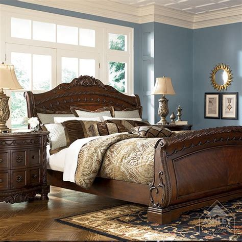 ashley furniture homestore north shore sleigh headboard  home furniture sleigh bedroom
