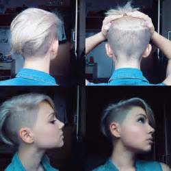 how to style half haircut for 1000 ideas about short shaved hairstyles on pinterest