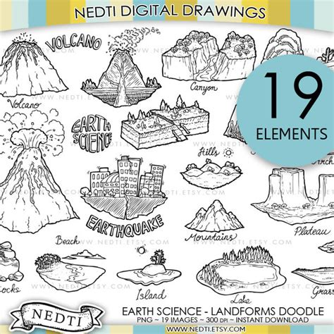 earth science landforms doodle by nedti by nedti on deviantart