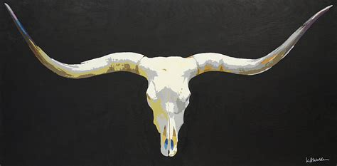 longhorn skull painting by boughton walden