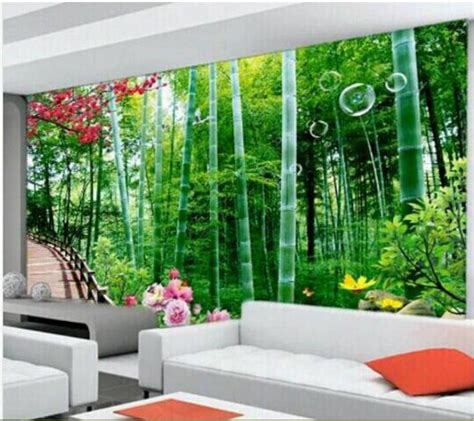 Wallpaper Custom Lukisan Pohon aliexpress buy 3d wallpaper custom mural non woven