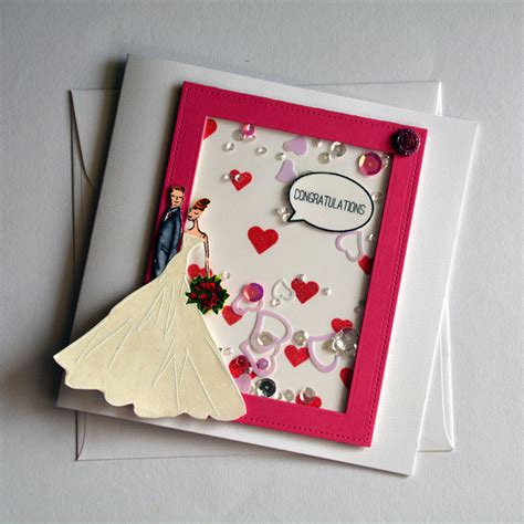 Handmade Wedding Cards Sle - wedding shaker card groom handmade