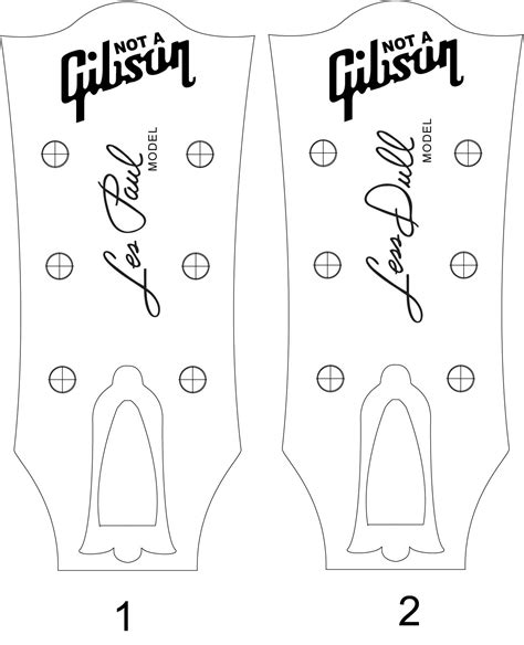 les paul headstock template pdf cerca con cigar