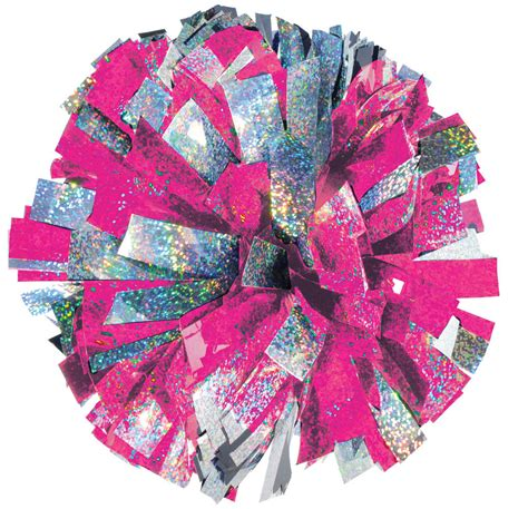 Best Quality Pompom Silver 2 color holographic mix youth pom omni cheer
