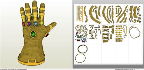 gauntlet template papercraft pdo file template for guardians of the galaxy