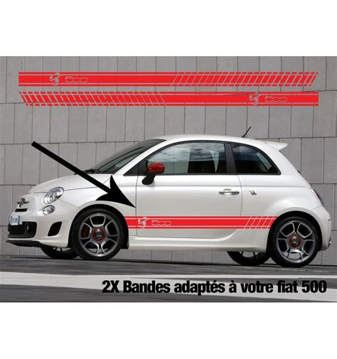 Abarth Aufkleber by Kit Stickers Bandes Fiat 500 Abarth Logo