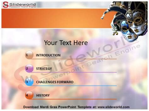 Mardi Gras Powerpoint Template Slideworld Com Mardi Gras Powerpoint Template