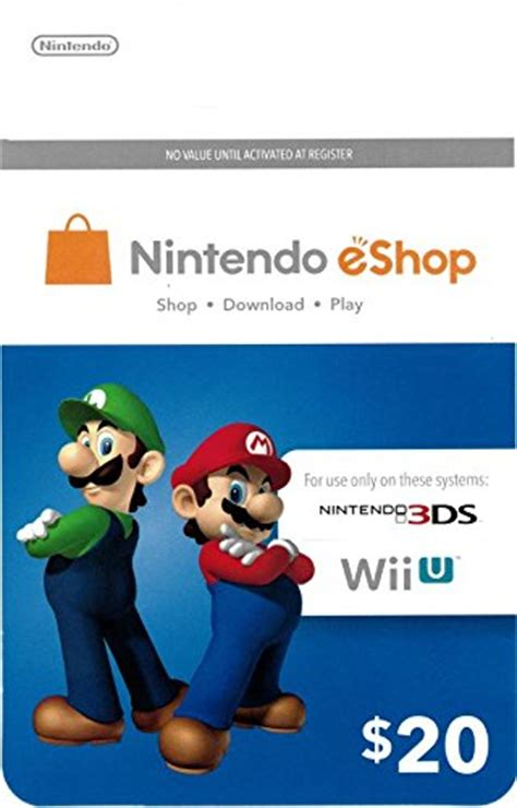Nintendo Wii Gift Card - nintendo eshop 20 gift card 0076750107641 buy new and used gift cards books and