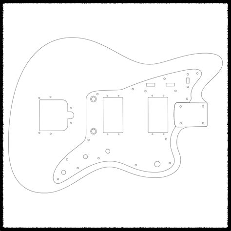 jazzblaster guitar routing templates faction guitars