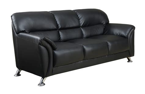 Vinyl Couches by U9103 Black Vinyl Sofa By Global Furniture