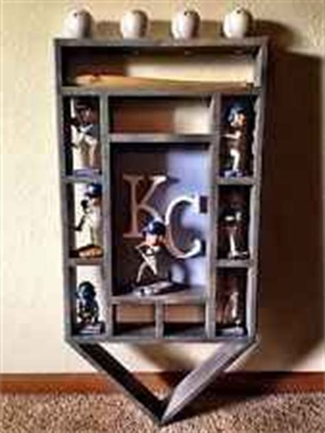bobblehead shelves kc royals bobblehead wood display shelf kansas city