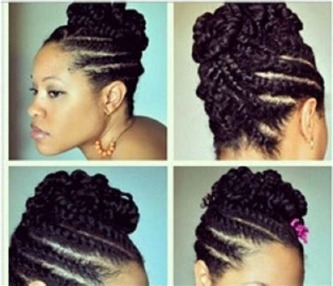 pics of natural cornrow hairstlye for round face cornrow updo hawk styles for short natural hair google
