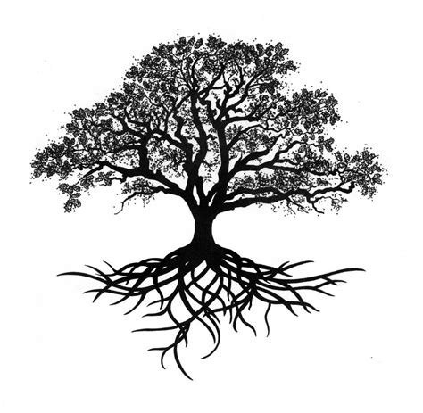 tree with roots tattoo tree roots search tattoos