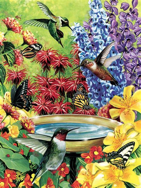 hummingbird garden jigsaw puzzle puzzlewarehouse com