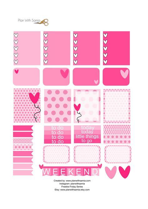 free printable valentines planner stickers valentine sticker set freebie friday plan with samia