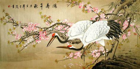 chinese crane painting 4601002 66cm x 130cm 26 x 51