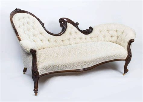 victorian settee antique antique pair of victorian walnut sofa chaise settees
