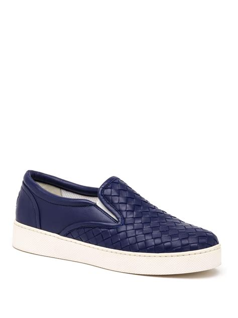 on sneakers bottega veneta woven leather slip on sneakers in purple lyst