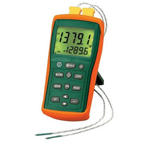 Thermocouple 10meter extech ea15 easyview thermocouple thermometer dual channel