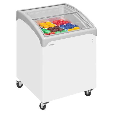 Sliding Curved Glass Freezer 520 L tefcold sliding curved glass lid chest freezer nic100 commercial catering equipment at