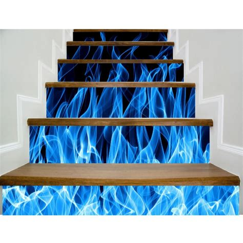 Wall Paper Sticker 117 6pc 3d stairs tile risers mural vinyl decal wall paper stickers decor decals diy ebay