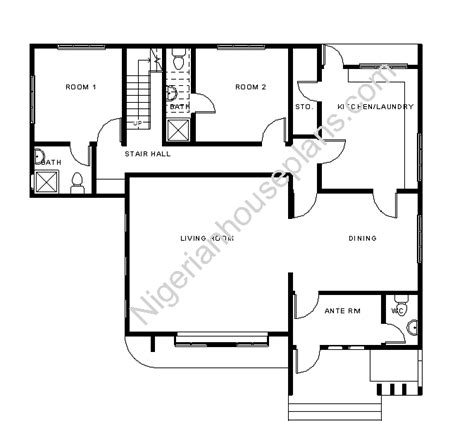 4 bedroom duplex floor plans house nigerianhouseplans
