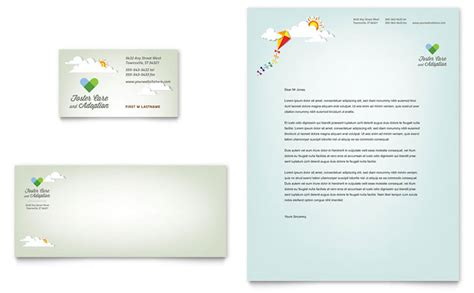 foster care adoption business card letterhead template