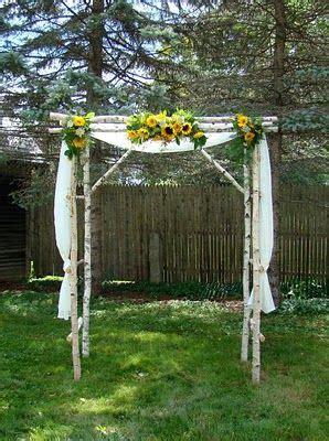 Wedding Arch With Sunflowers by Sunflower Chuppah Wedding Ideas Wedding