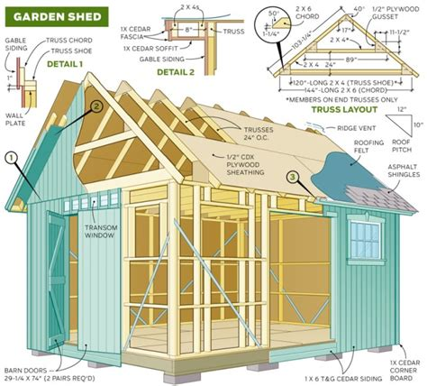 outdoor sheds plans the shedplan access wood storage shed 10x12