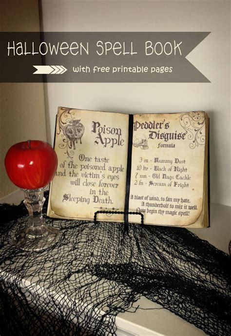 printable halloween spell book pages