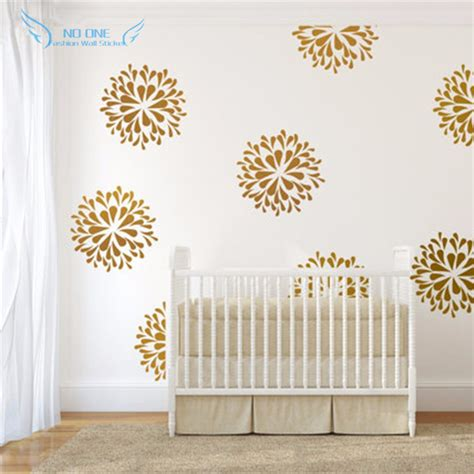 Baby Prewalker Gold Flower Pattern C 13 18 Bulan Sepatu Bayi Lucu gold flowers wall decals vinyl sticker bedroom wall decor wall sticker baby