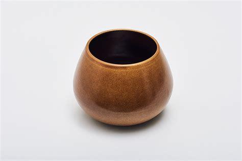 Low Vase by Land Vase Low Chestnut Mette Duedahl