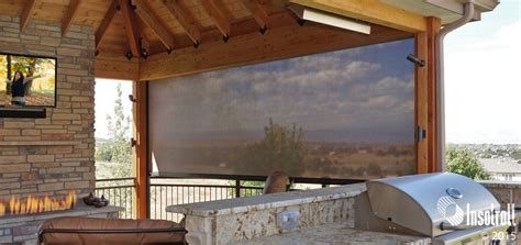 outdoor shades for patio patio shades driven by lutron insolroll